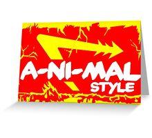 Animal Style Greeting Card