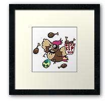 Kanto Fried Pidgeotto! Framed Print