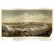 Panoramic Maps View of Pittsburgh & Allegheny Otto Krebs lith Pittsburgh 005 Poster