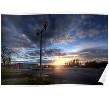 Carpark Sunrise Poster