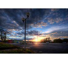 Carpark Sunrise Photographic Print