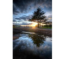 Sunset & Puddle Reflections 2.0 Photographic Print