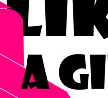 Fight Like A Girl Breast Cancer Awareness Sticker