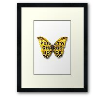 Urban Jungle: Butterfly  Framed Print