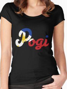 Filipino Flag Pogi Women's Fitted Scoop T-Shirt