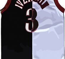 Allen Iverson Black/White Jersey by ColbyCo