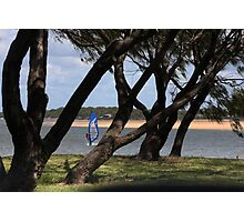 FRAMED WIND SURFER Photographic Print