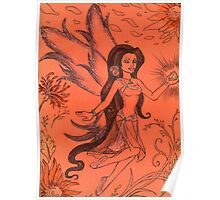 Winged Orange Blossom Poster