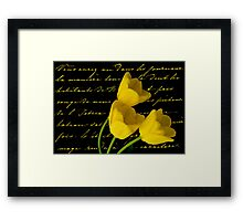 YELLW TULIPS Framed Print