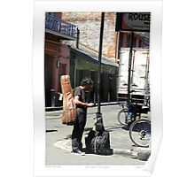 """Musical Aspirations""/ French Quarter Street Preformers  Poster"