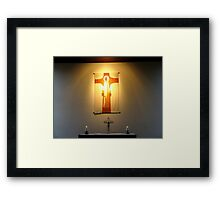 PRAYER ALTAR Framed Print