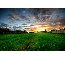 Sunset On The Greens Photographic Print