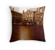 Belfast Custom House and Obel Tower Throw Pillow