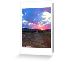 Road of color Greeting Card