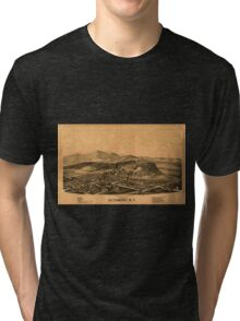 Panoramic Maps Altamont NY Tri-blend T-Shirt