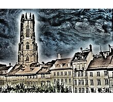 St-Nicolas cathedral in Fribourg (Switzerland) Photographic Print