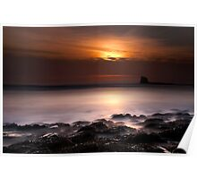 Saltwick Bay in the morning Poster