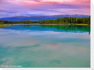 Pink upon turquoise by Erykah36