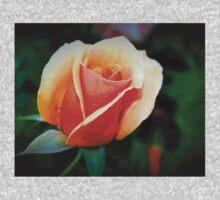 Peach rosebud One Piece - Long Sleeve