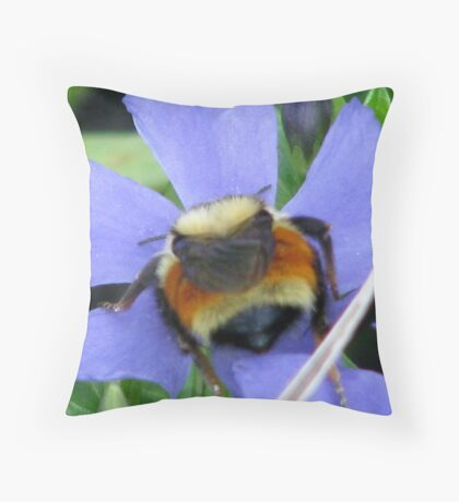 bubiling blue Throw Pillow
