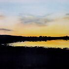 """""""Pierowall Bay Sunset, Westray""""  (Image of an Oil Painting) by LBMcNicoll"""