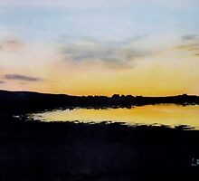 """Pierowall Bay Sunset, Westray""  (Image of an Oil Painting) by LBMcNicoll"