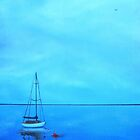 """""""Reflecting at the Moorings"""" (Image of an Oil Painting) by LBMcNicoll"""