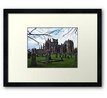 Melrose Abbey, the Scottish Borders. Framed Print