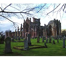 Melrose Abbey, the Scottish Borders. Photographic Print