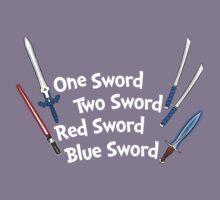 One Sword, Two Sword, Red Sword, Blue Sword Kids Tee