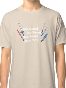 One Sword, Two Sword, Red Sword, Blue Sword Classic T-Shirt