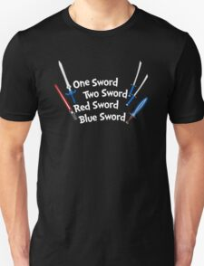 One Sword, Two Sword, Red Sword, Blue Sword T-Shirt