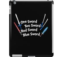 One Sword, Two Sword, Red Sword, Blue Sword iPad Case/Skin
