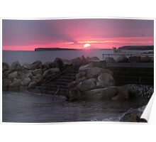 Galway Bay at Sunset Poster