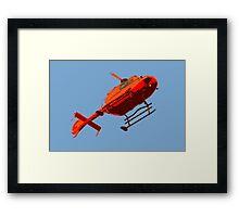 helicopter pop-art Framed Print