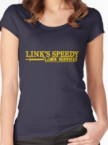 Link's Speedy Lawn Services Women's Fitted Scoop T-Shirt