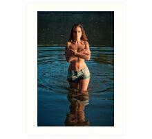 morning at the lake 5 Art Print