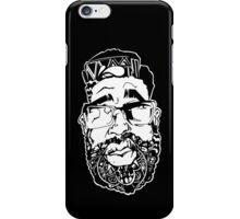 Graffiti Pop-art Cartoon Portrait - Black iPhone Case/Skin