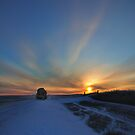 Cold winter morning in the Bakken oil fields, North Dakota by pdsfotoart