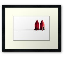 Red High Heeled Shoes Framed Print