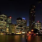 Brisbanes citylights panorama by warren dacey