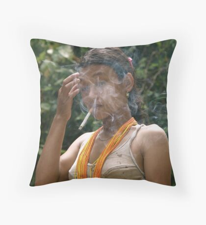 World Moves On A Woman's Hips. Throw Pillow