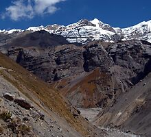 Scenery near Thorung Phedi by SerenaB