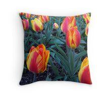 Plethora of Tulips Throw Pillow