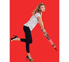 Crayon Taylor Swift Photographic Print