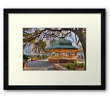 San Antonio Bandstand in HDR Framed Print