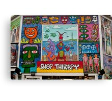 Shop Therapy Canvas Print