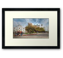 Alamo Plaza in HDR, Downtown San Antonio Framed Print