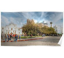 Alamo Plaza in HDR, Downtown San Antonio Poster