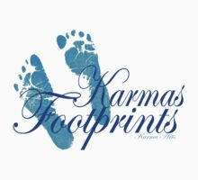 KARMAS FOOTPRINTS (BLUE) Baby Tee